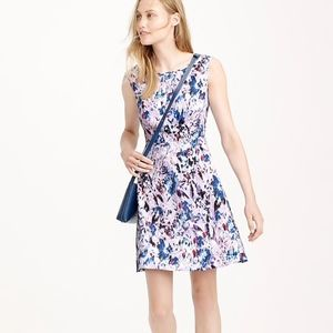 JCrew Water Color Floral Print Dress